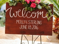 welcome_sign_detail_rough_hollow_yacht_club_lakeway_austin_texas_pavilion_wedding