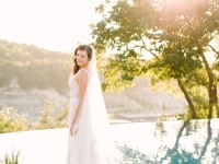 bride_solo_scenic_rough_hollow_yacht_club_lakeway_austin_texas_pavilion_wedding